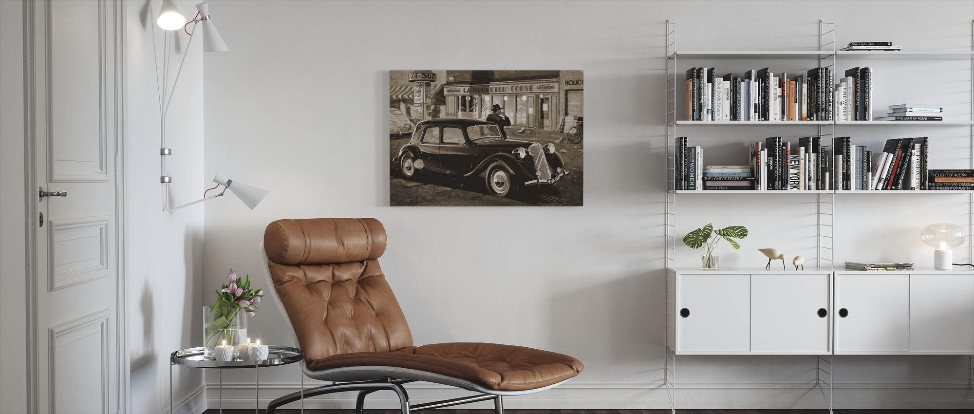B15 in Paris Sepia - Canvas print - Living Room