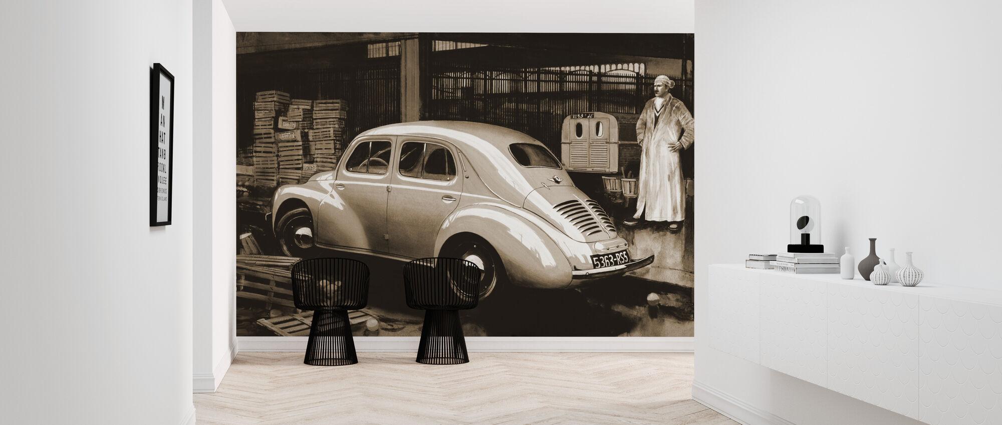 Classic Car Sepia - Wallpaper - Hallway