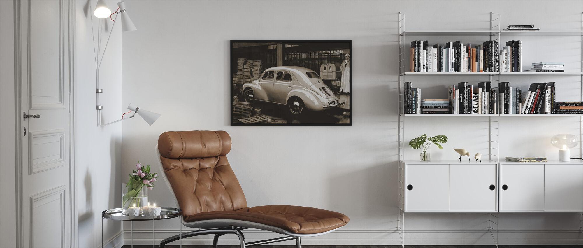 Classic Car Sepia - Framed print - Living Room