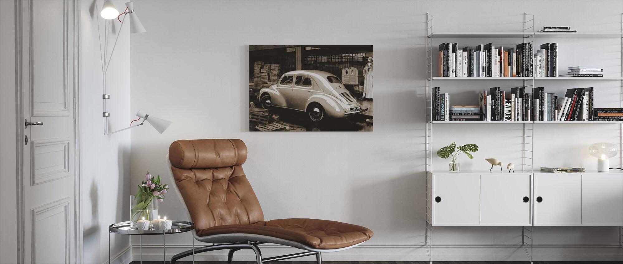 Classic Car Sepia - Canvas print - Living Room