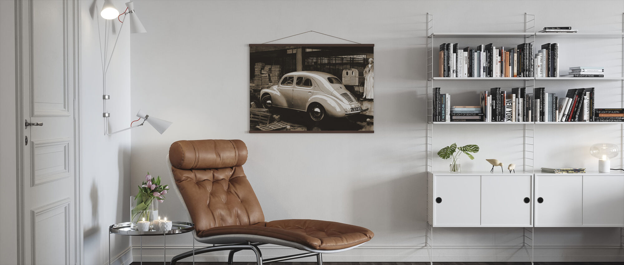 Classic Car Sepia - Poster - Living Room