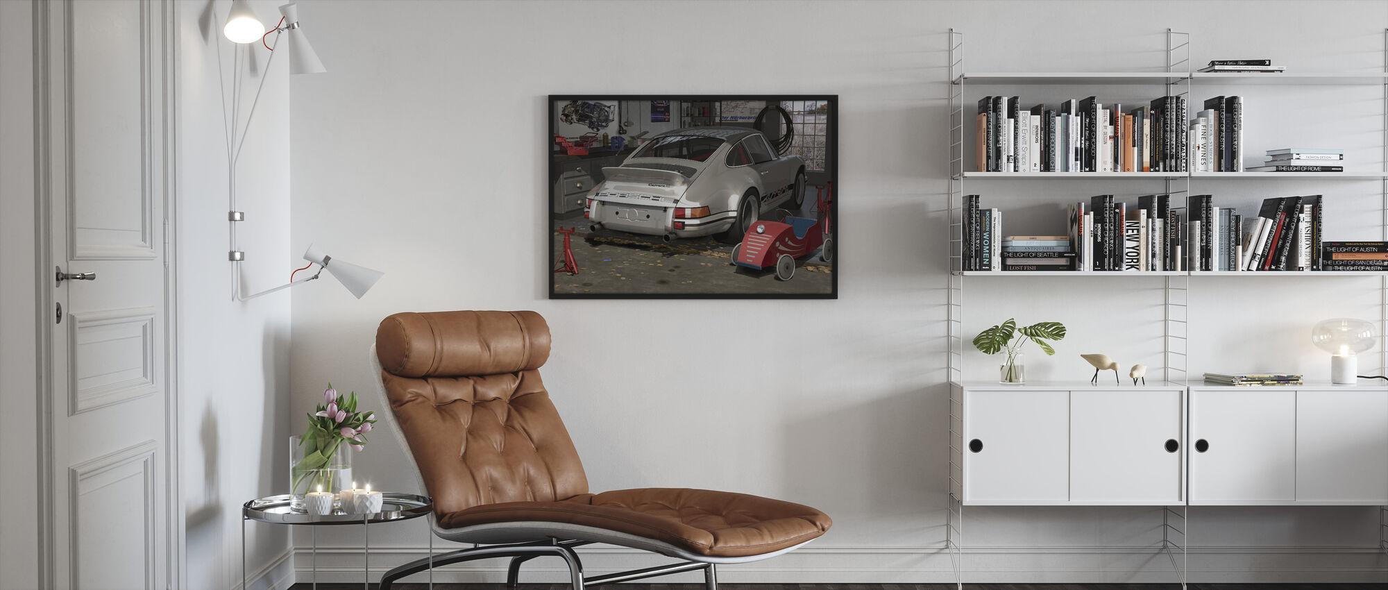 Min første og andre bil - Innrammet bilde - Stue