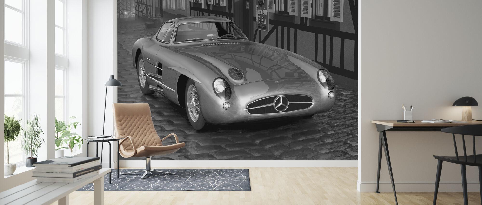 Shiny 300 BW - Wallpaper - Living Room
