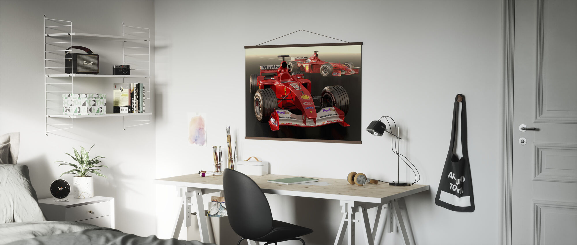 Klassieke racewagen - Poster - Kantoor