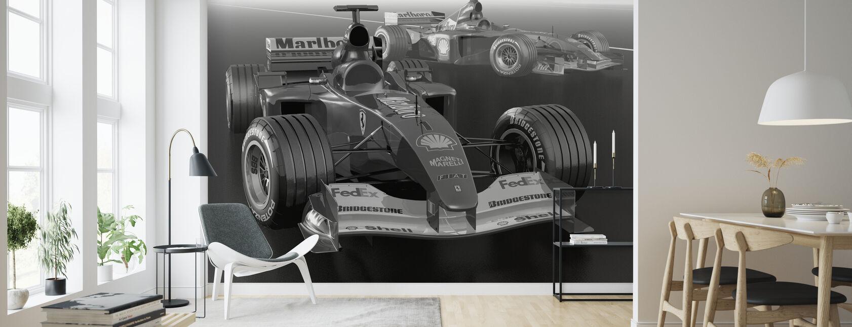 Classic Racing Car BW - Wallpaper - Living Room