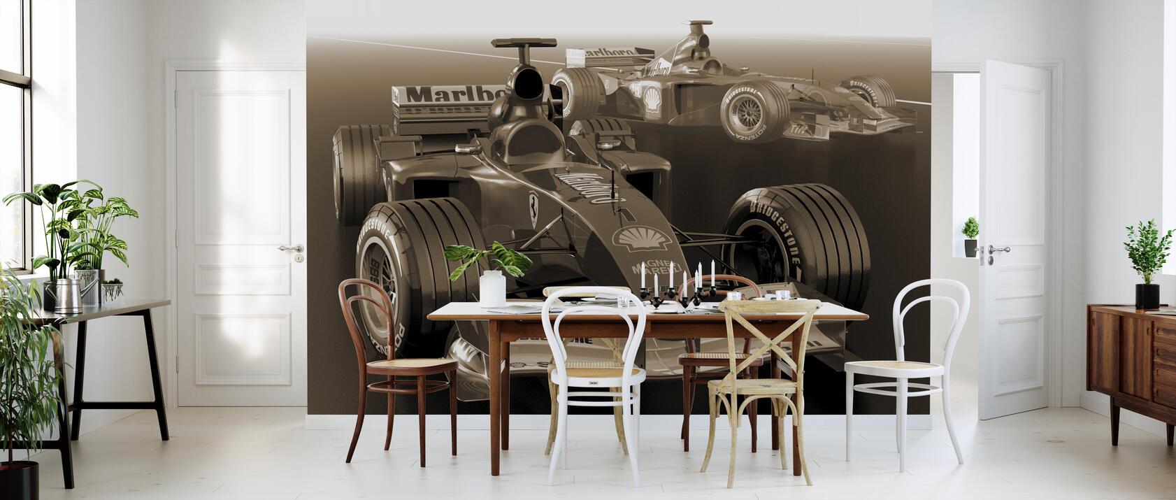 classic racing car sepia fototapete nach ma photowall. Black Bedroom Furniture Sets. Home Design Ideas