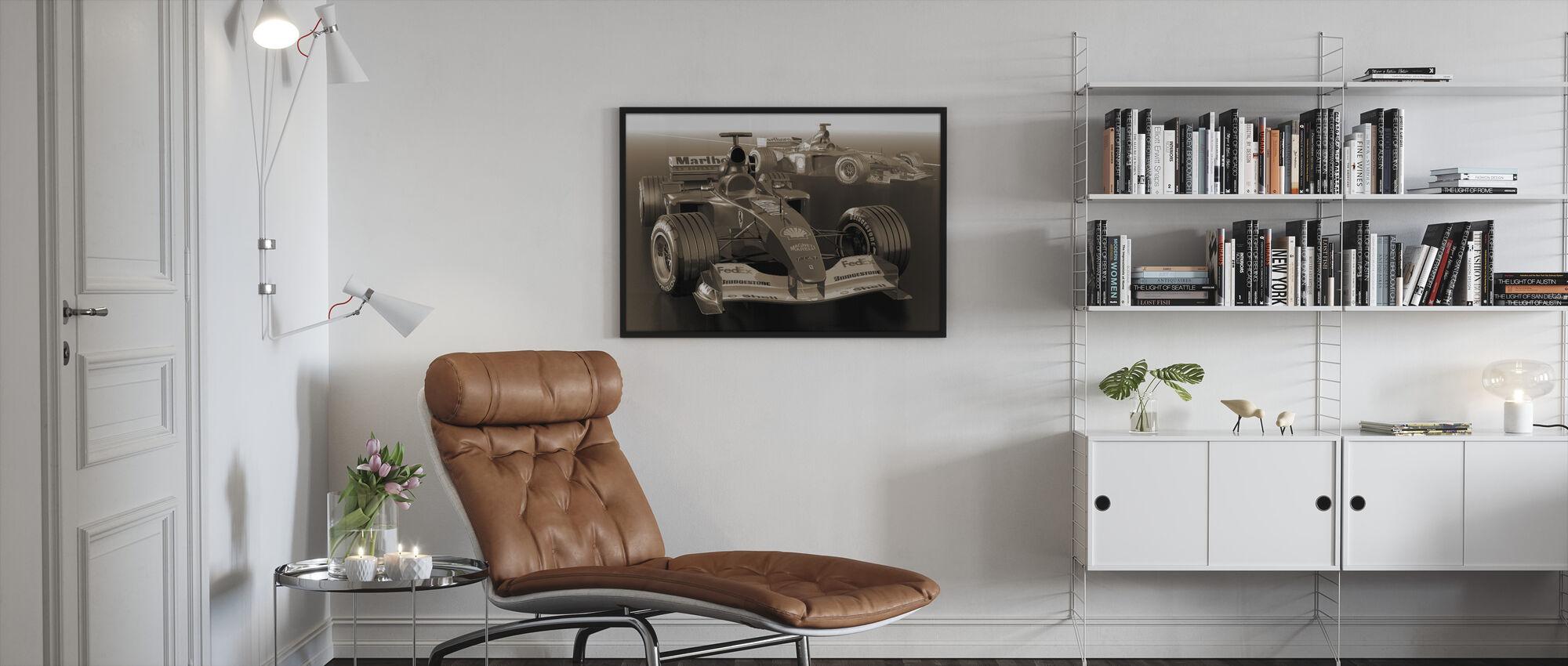 Classic kilpa-auto seepia - Kehystetty kuva - Olohuone