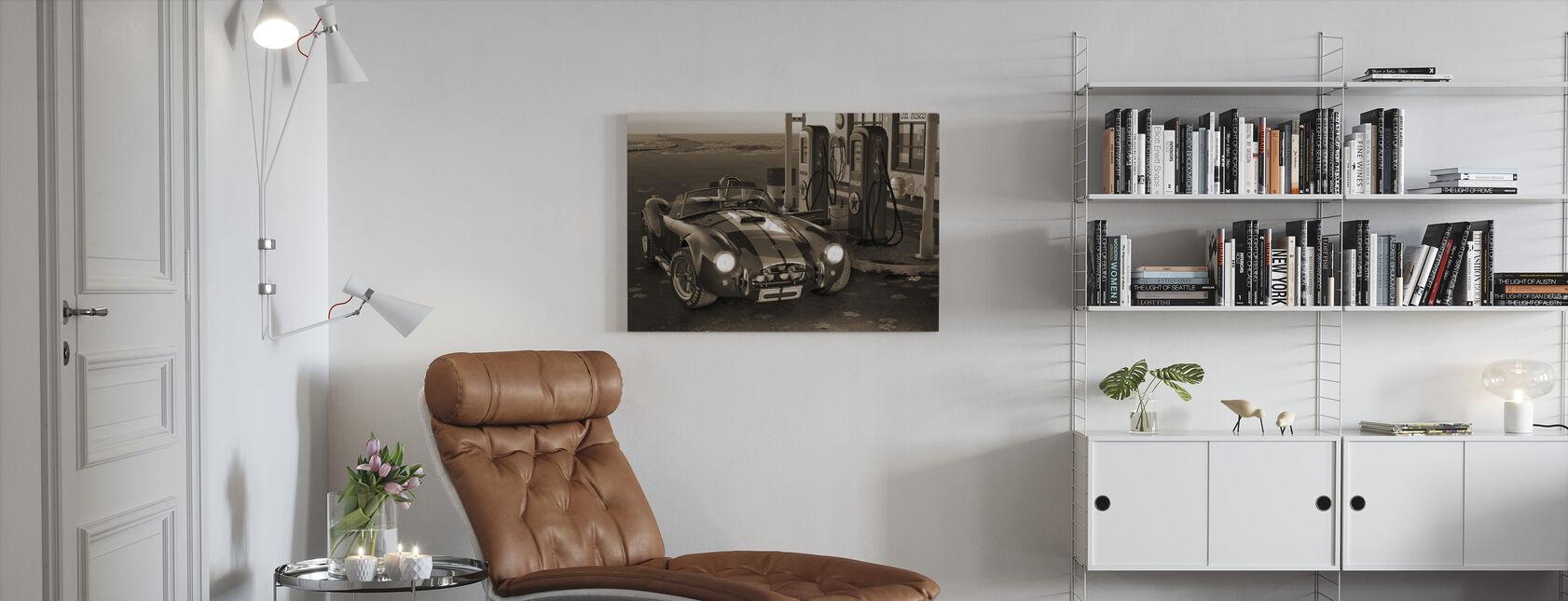Gas Stop Sepia - Canvas print - Living Room