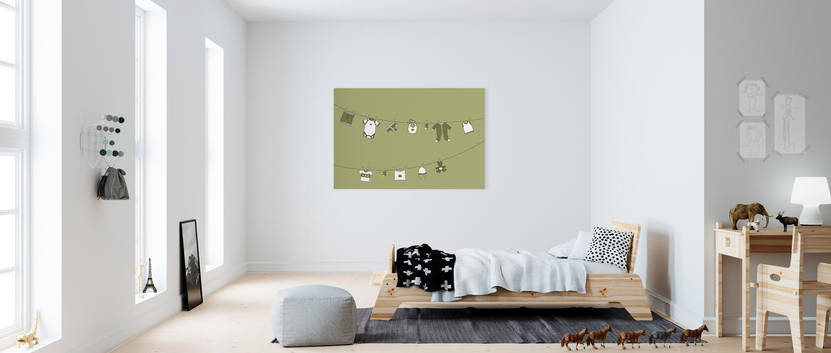 laundry olive impression sur toile en ligne pas cher photowall. Black Bedroom Furniture Sets. Home Design Ideas