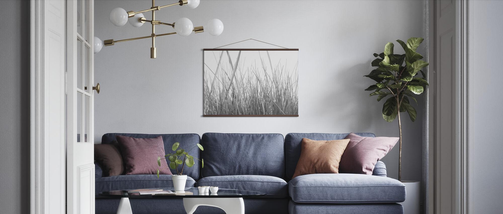 High Grass - b/w - Poster - Living Room