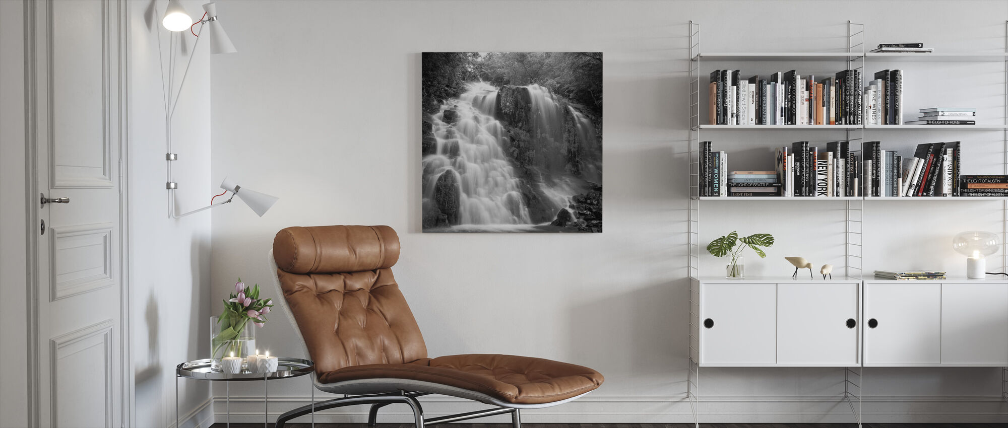 Nature Scenery - b/w - Canvas print - Living Room