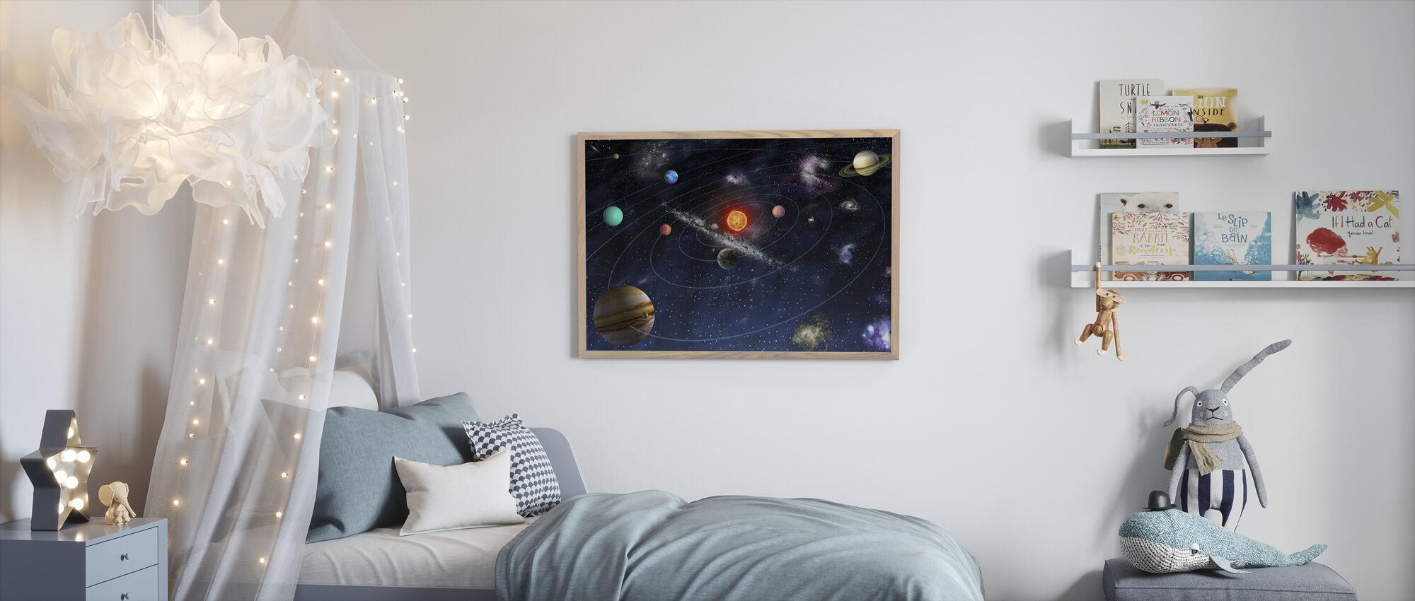 Solsystem - Indrammet billede - Børneværelse