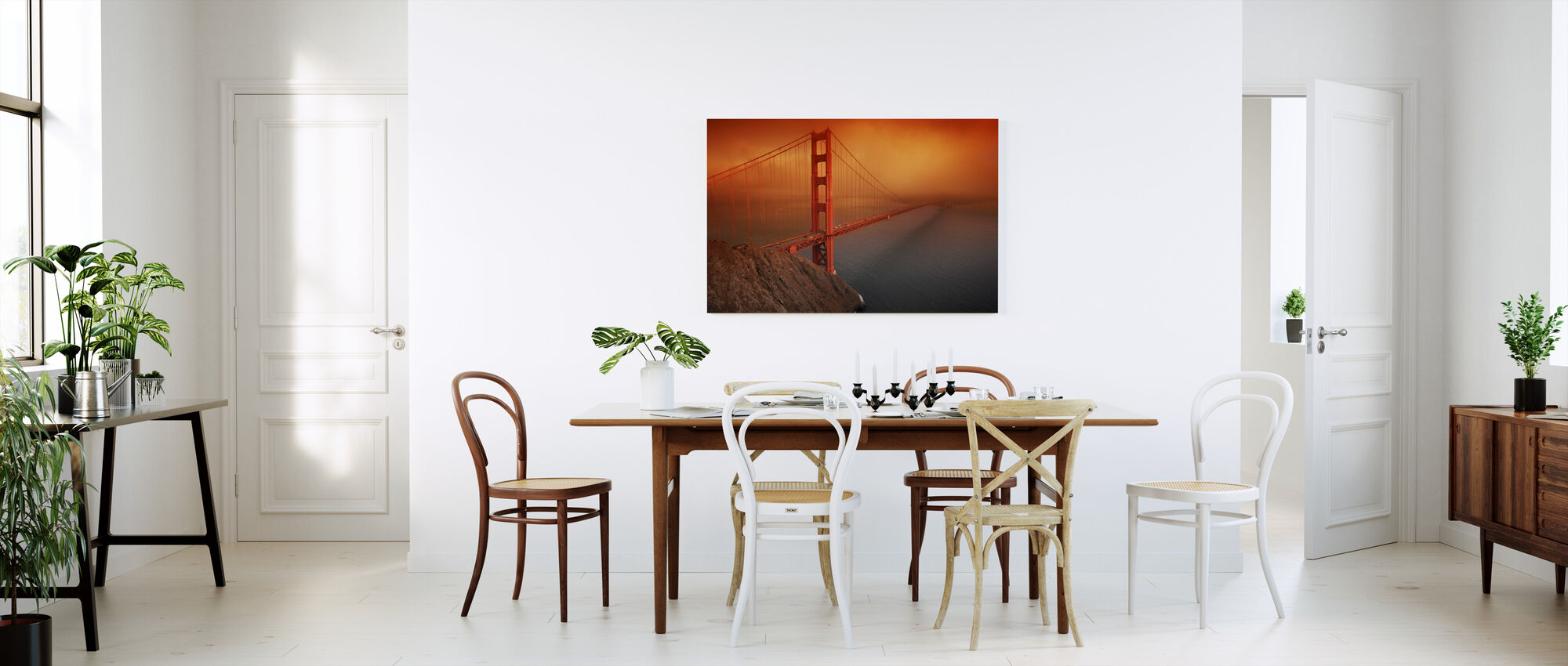Golden Gate - Billede på lærred - Køkken