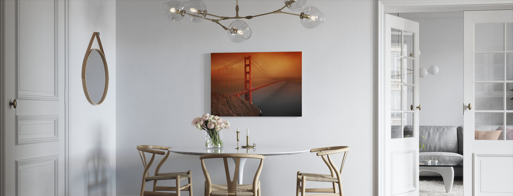 Golden Gate - Canvas print - Kitchen