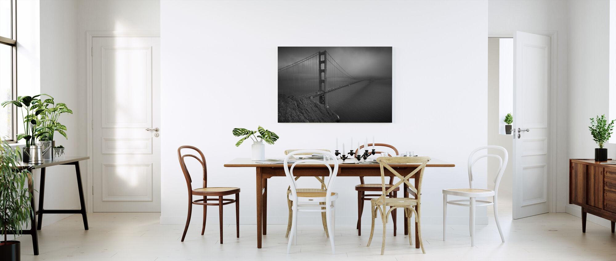 Golden Gate - b/w - Canvas print - Kitchen