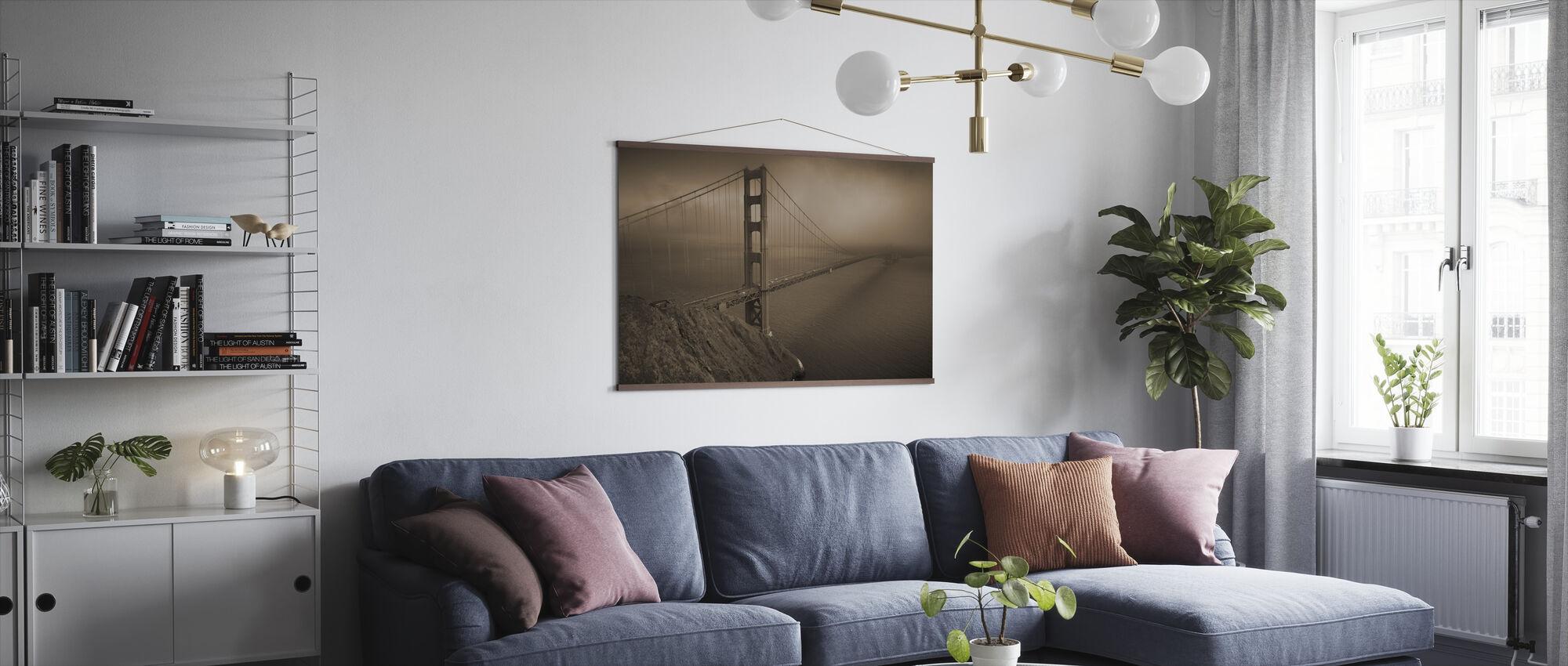 Gouden Poort - Sepia - Poster - Woonkamer