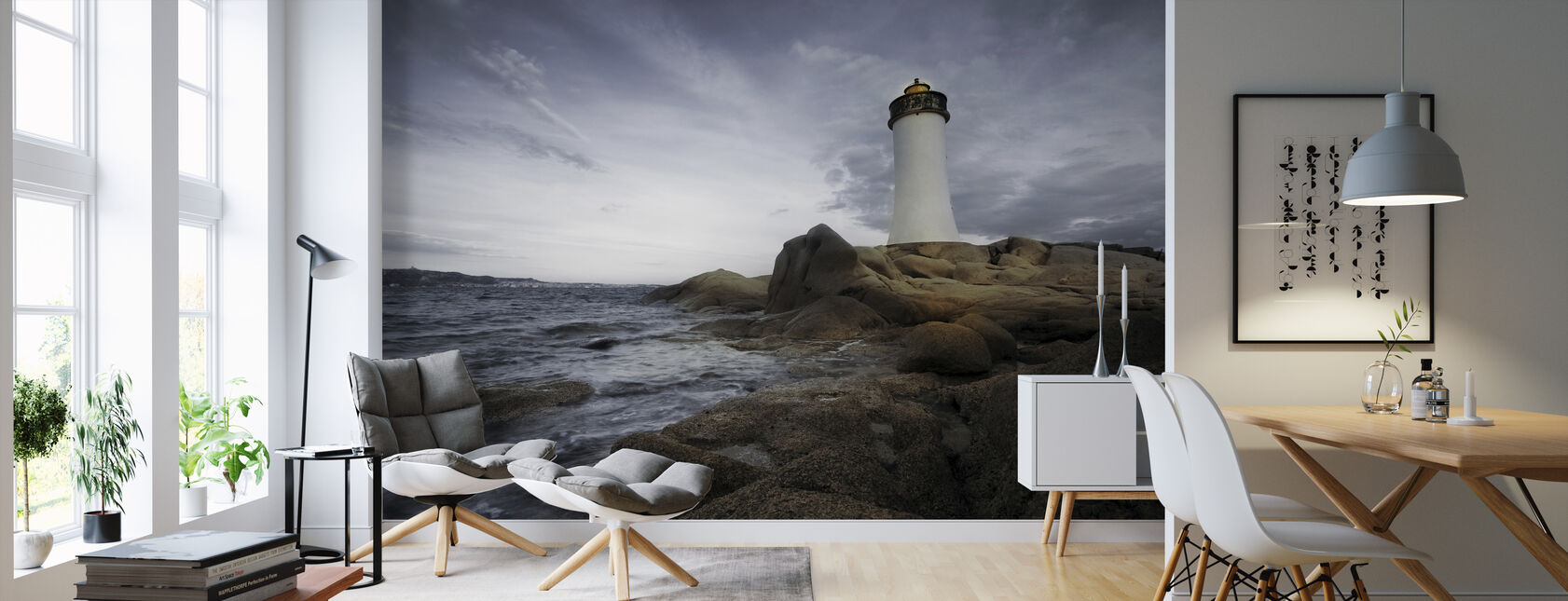 Sardinia Lighthouse - Wallpaper - Living Room