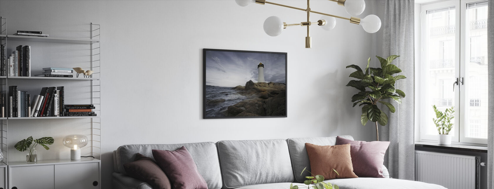 Sardinian majakka - Kehystetty kuva - Olohuone