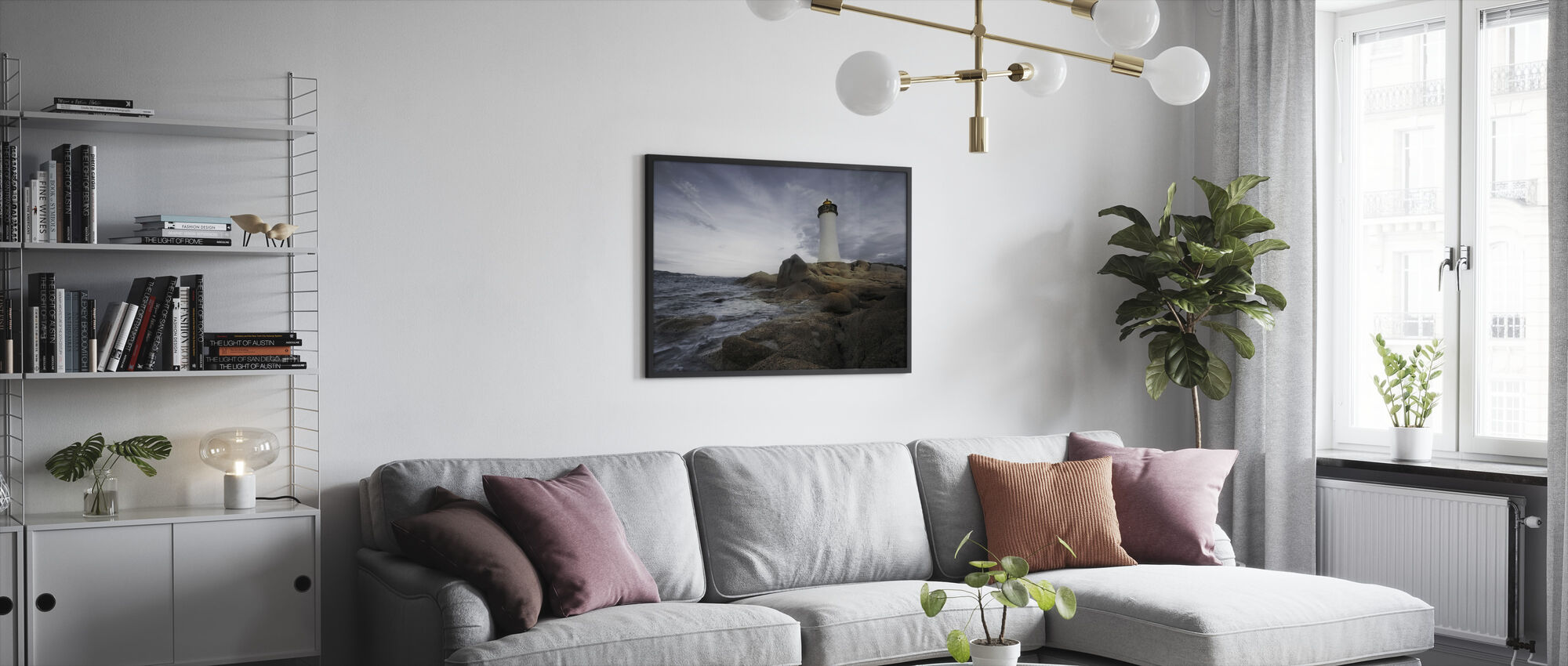 Sardinia Lighthouse - Framed print - Living Room