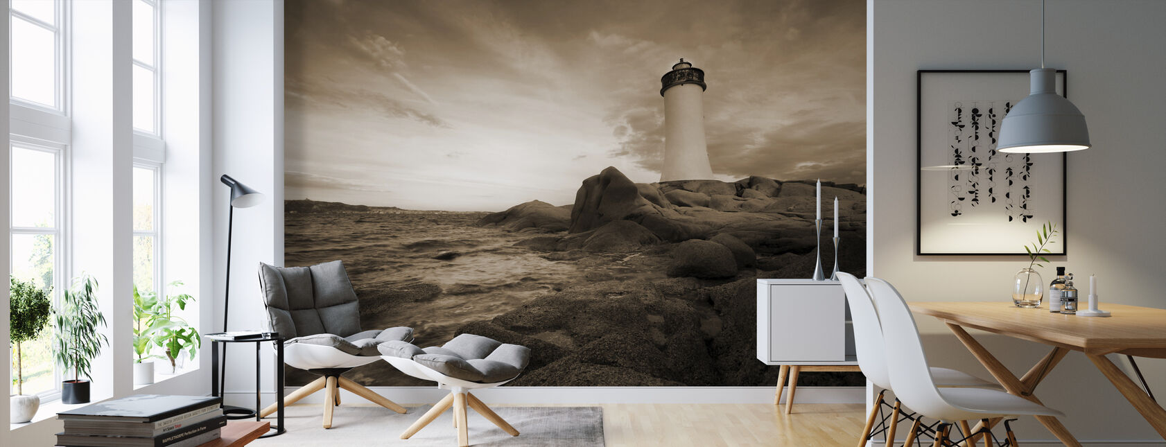 Leuchtturm von Sardinien - Tapete - Wohnzimmer