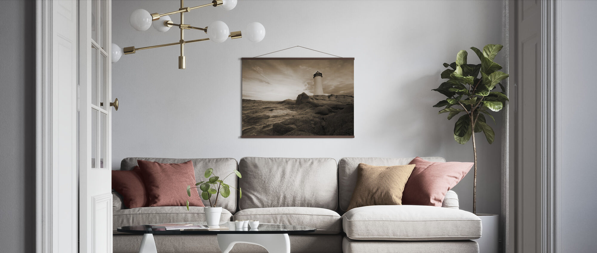 Sardinia Lighthouse - Poster - Living Room
