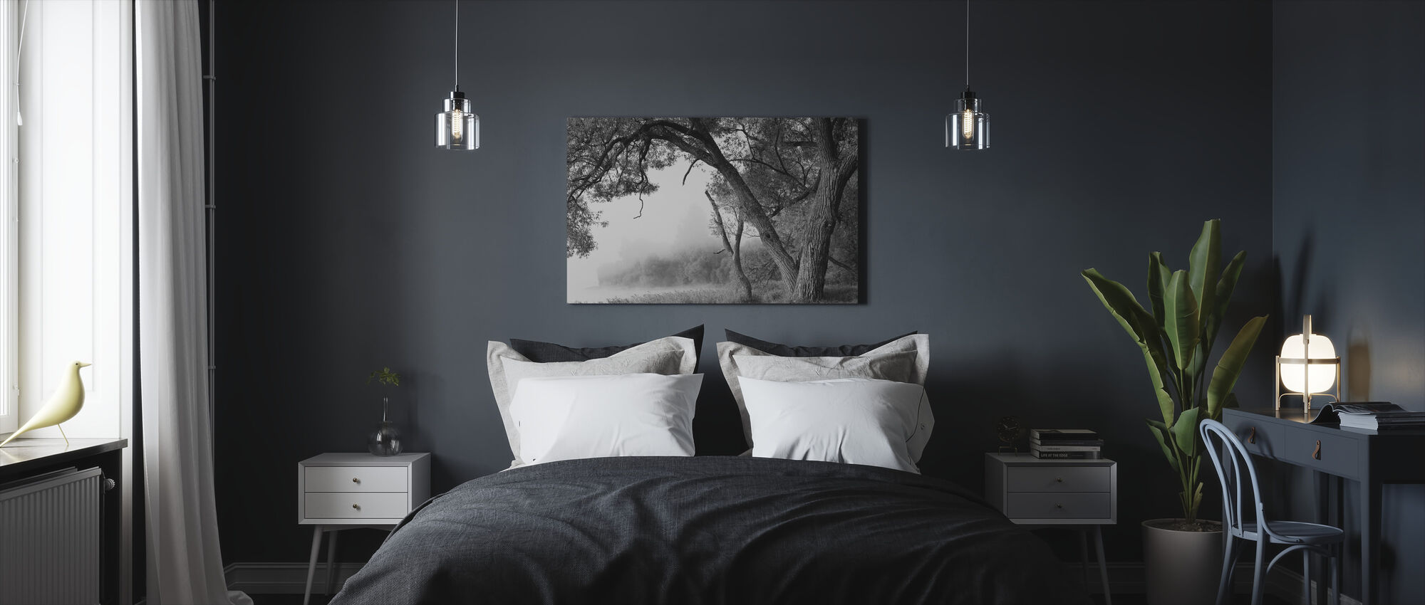 Tree in a Fog - Canvas print - Bedroom