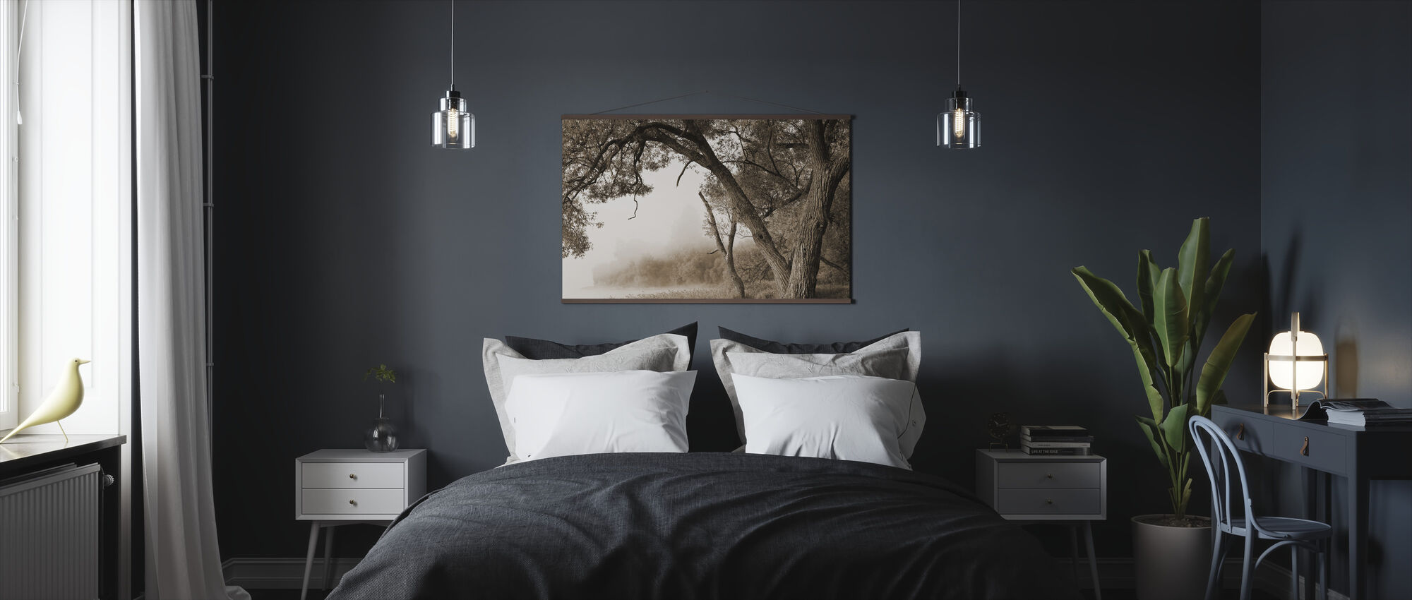Puu sumussa - Juliste - Makuuhuone