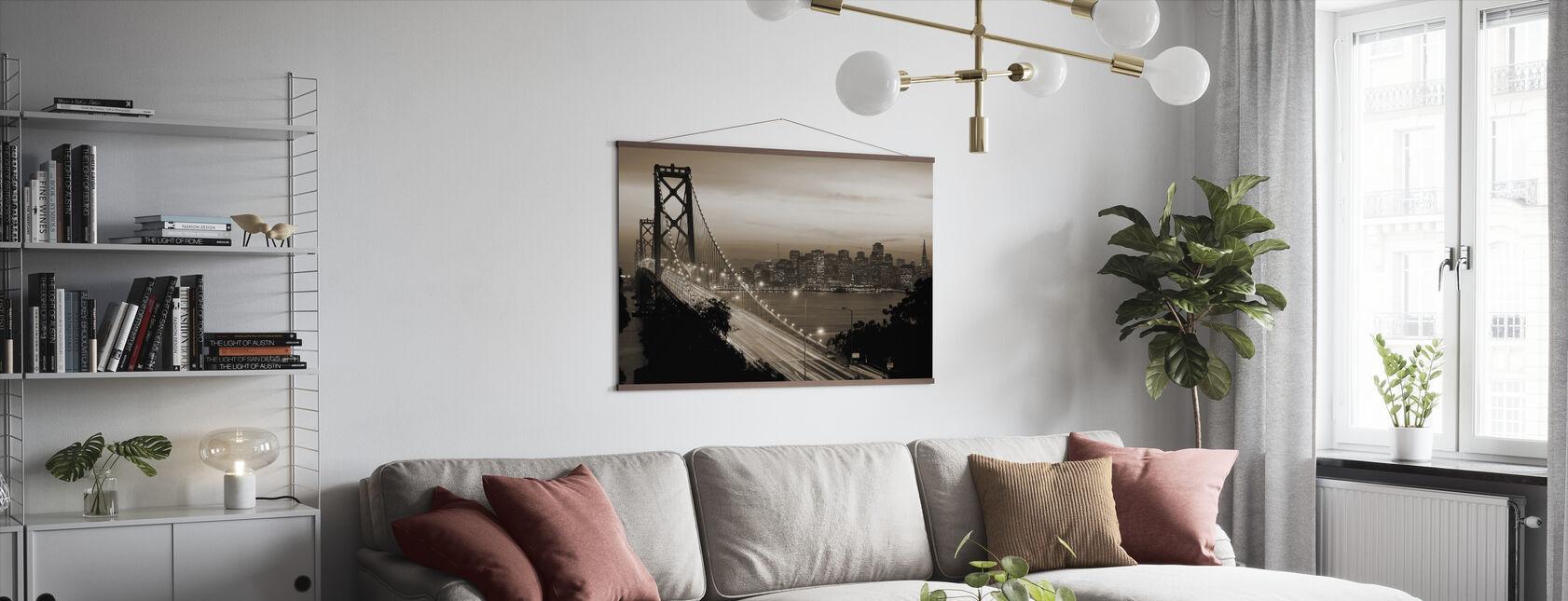 San Francisco, California, USA - Poster - Living Room