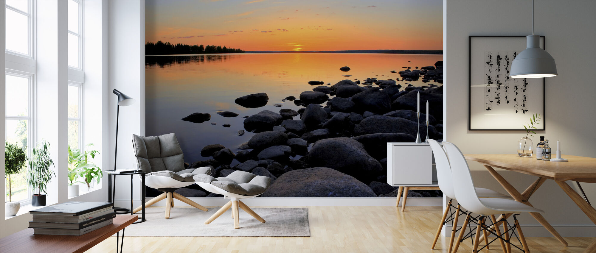 Northern Sweden Midnight Sun - Wallpaper - Living Room