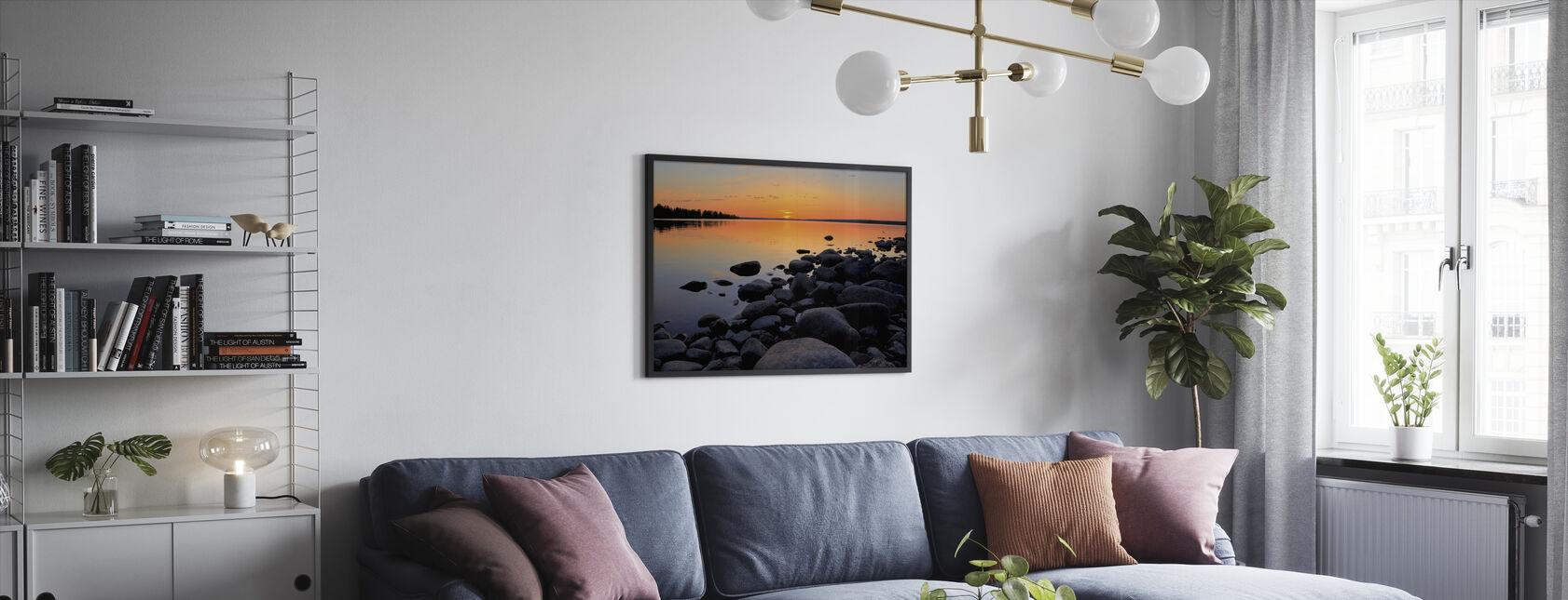Northern Sweden Midnight Sun - Framed print - Living Room