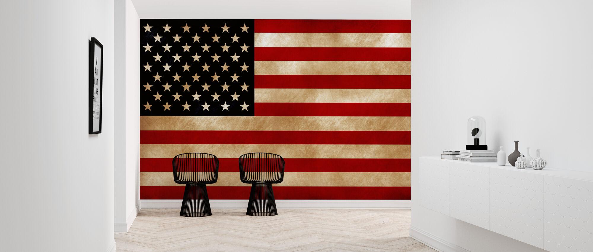 USA Flag - Wallpaper - Hallway