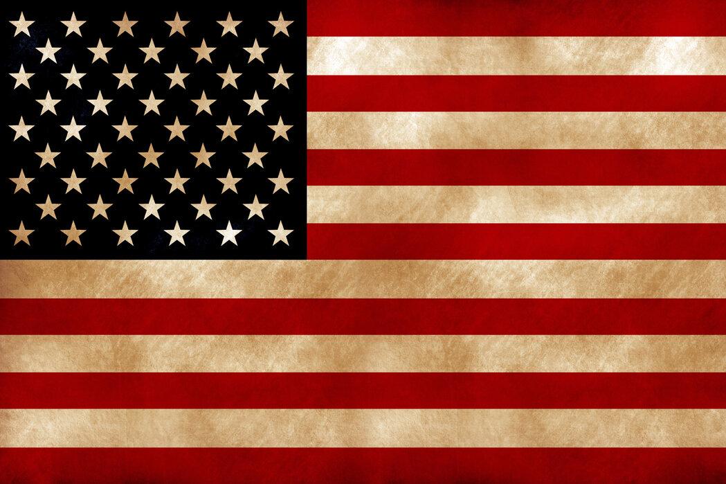 USA Flag – Überraschen Sie mit einem Leinwandbild – Photowall