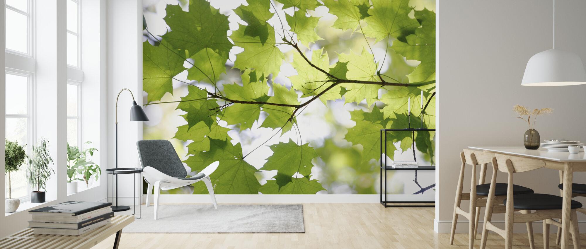 Grønt blad - Tapet - Stue