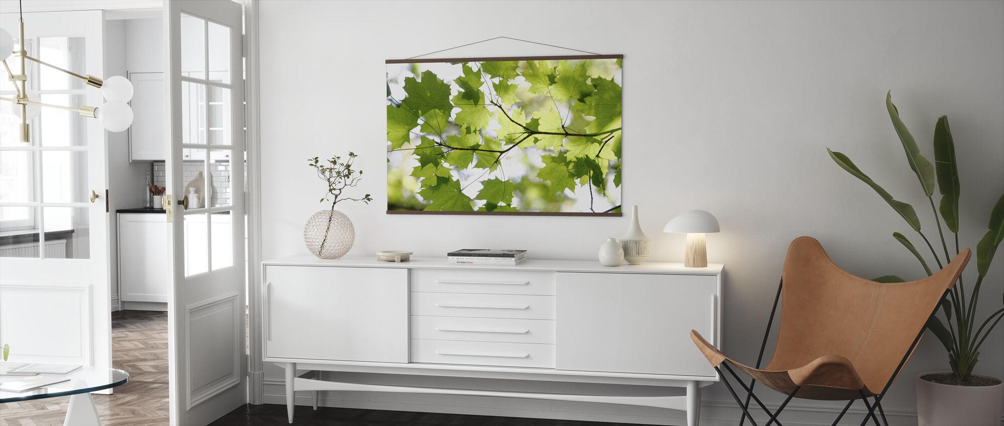 Grønt blad - Plakat - Stue