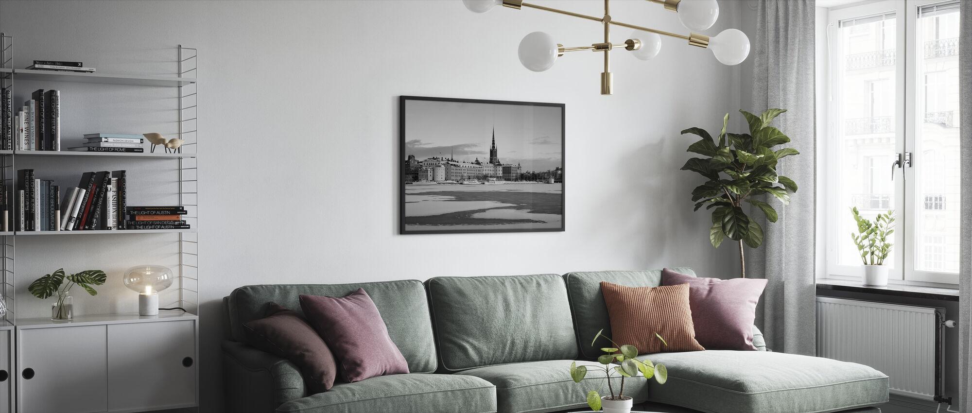Talvi Tukholmassa, Ruotsissa - Kehystetty kuva - Olohuone