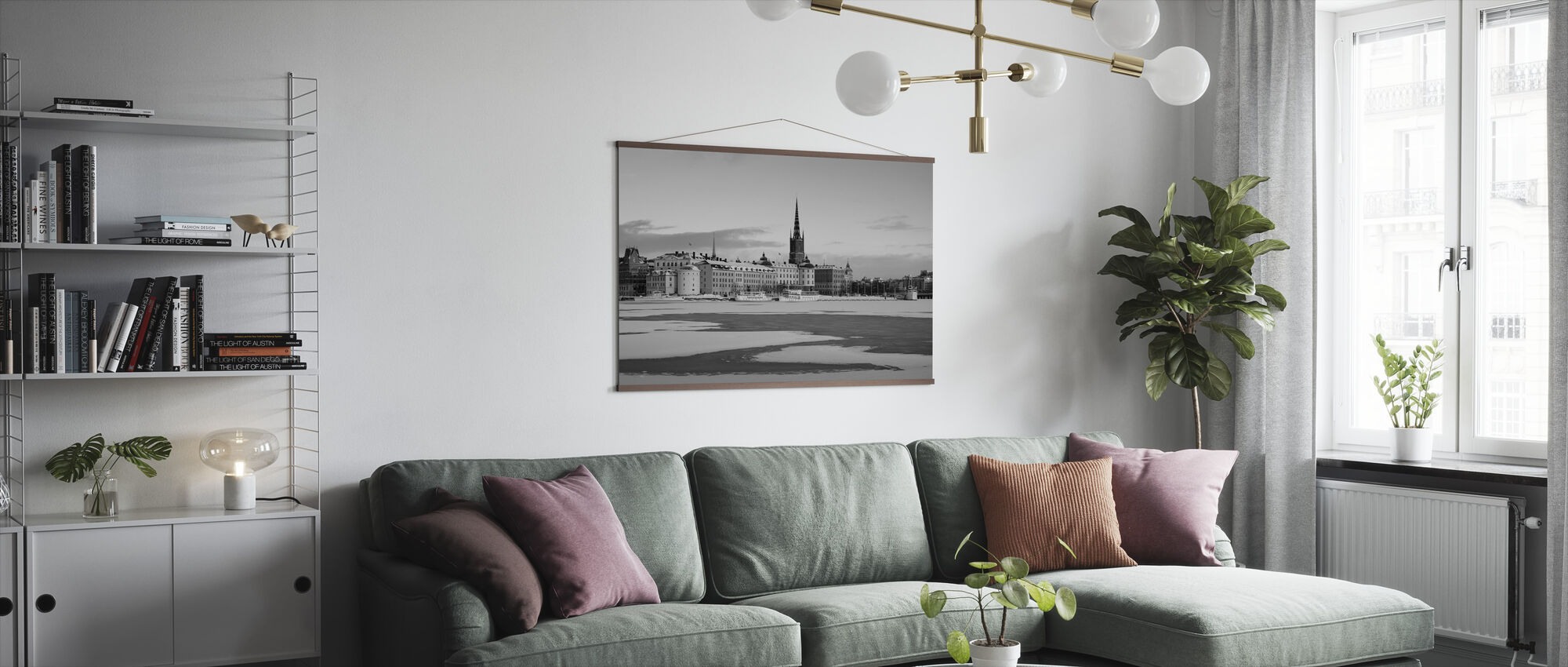 Winter in Stockholm, Zweden - Poster - Woonkamer