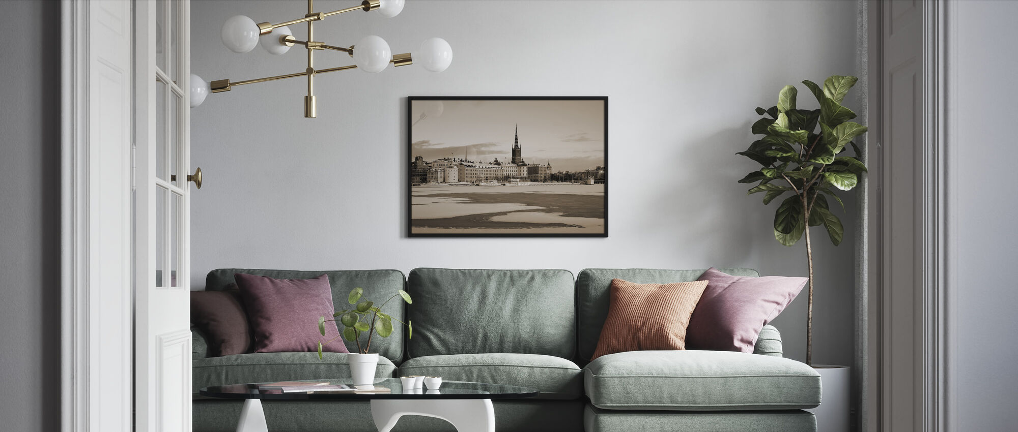 Winter in Stockholm, Sweden - Framed print - Living Room