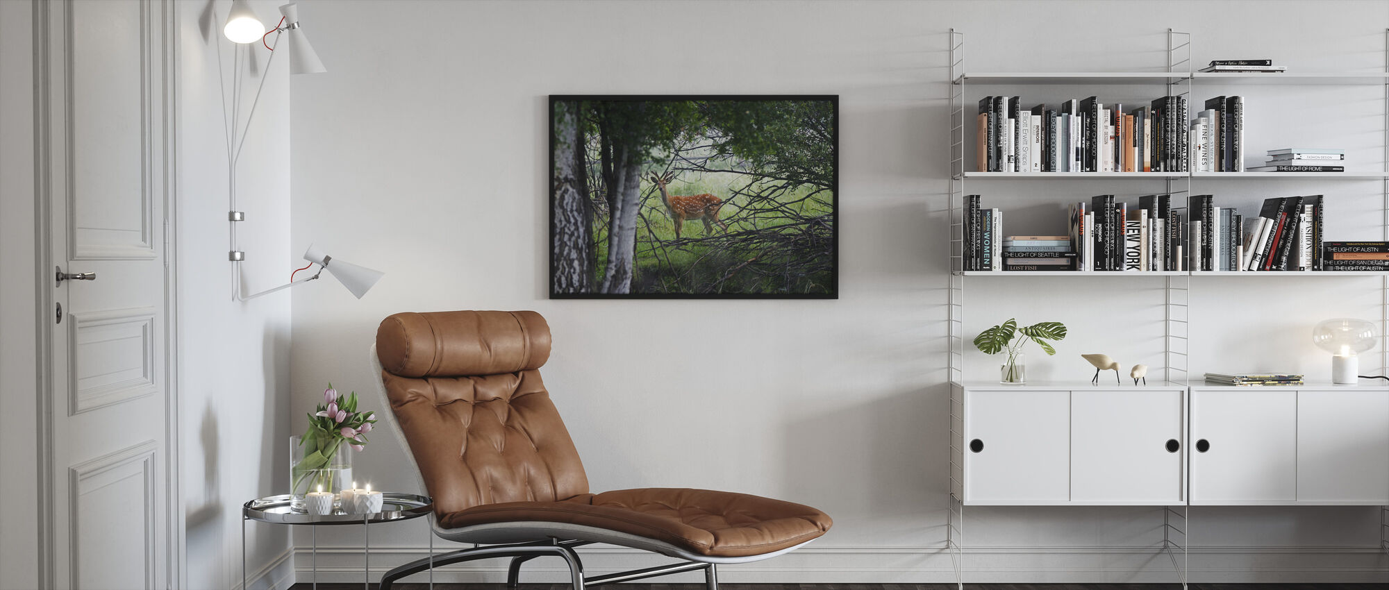 Wild Deer - Framed print - Living Room