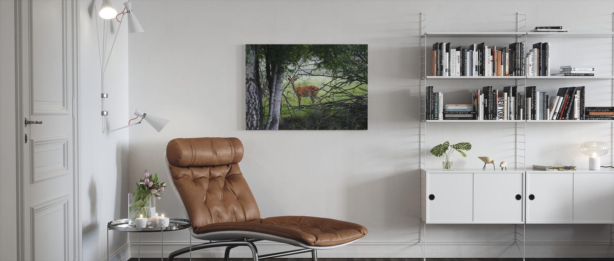 Wild Deer - Canvas print - Living Room