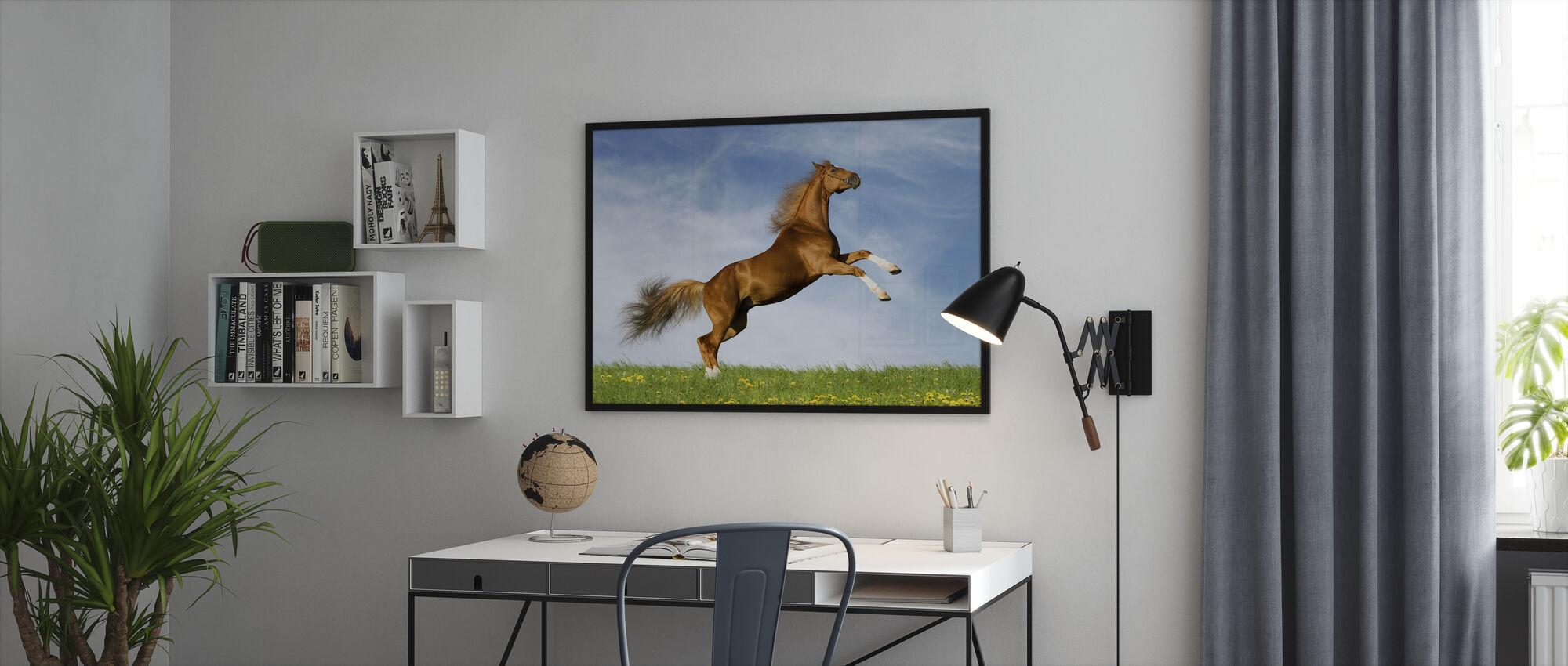 Bavarian Chesnut - Framed print - Office
