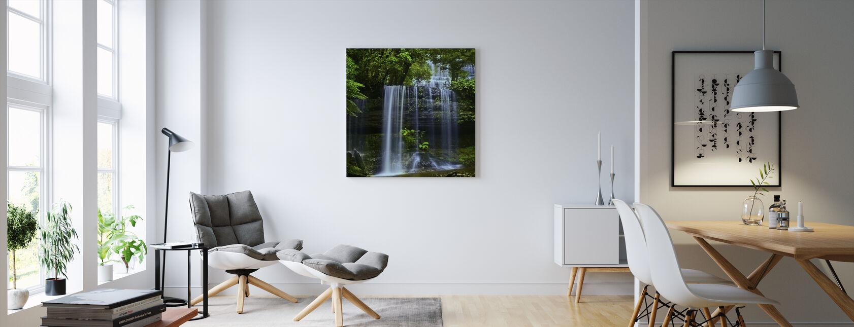 Tasmania-waterval - Canvas print - Woonkamer