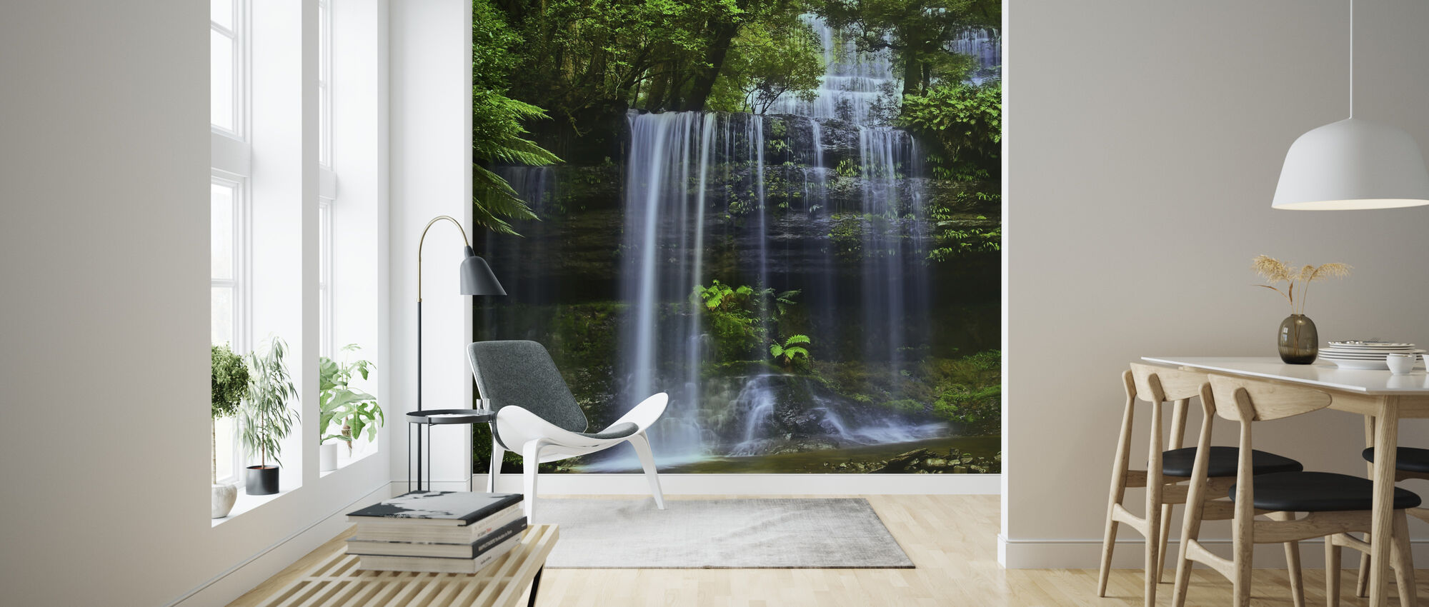Tasmania Waterfall - Wallpaper - Living Room