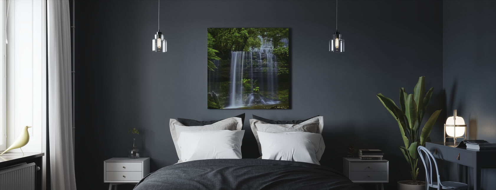 Tasmania Waterfall - Canvas print - Bedroom