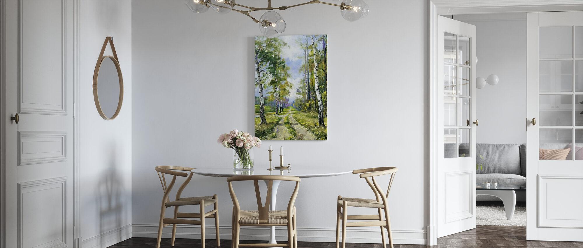 Berkenpad - Canvas print - Keuken