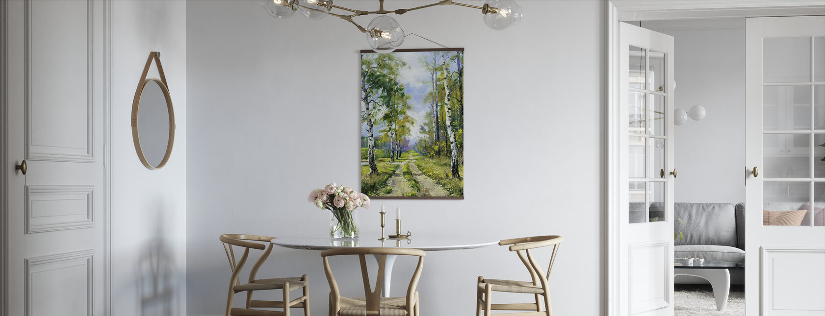 Birch Path - Plakat - Kjøkken