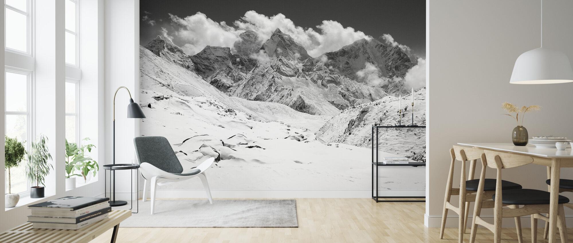 Himalaya - b/w - Wallpaper - Living Room