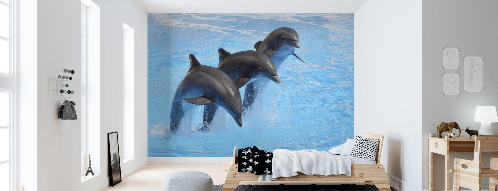 Bottlenose Dolphins - Wallpaper - Kids Room
