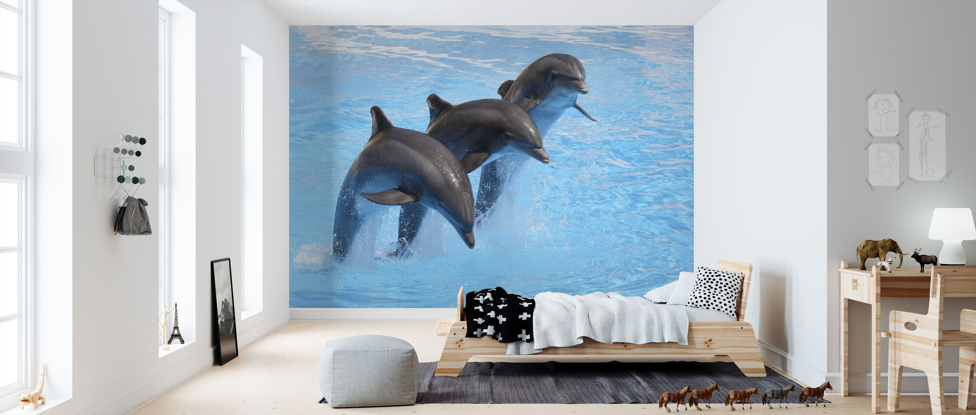 Bottlenose Dolphins - Wallpaper - Kids Room