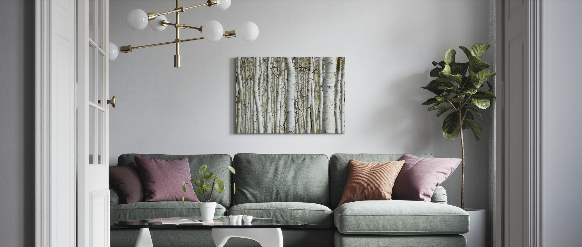 Aspen-bos - Canvas print - Woonkamer