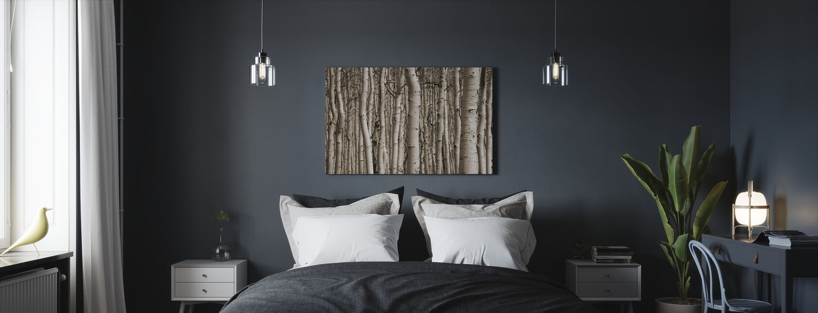 Aspen Forest - Canvas print - Bedroom